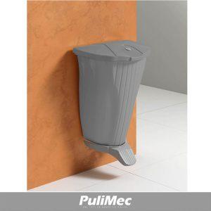 OYSTER CONTENITORE IN PLASTICA A MURO SOSPESO GRIGIO LT. 50 C/PEDALE E COPERCHIO