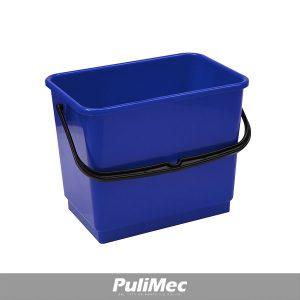 SECCHIO IN PLASTICA BLU LT.4 C/MANICO PLASTICA