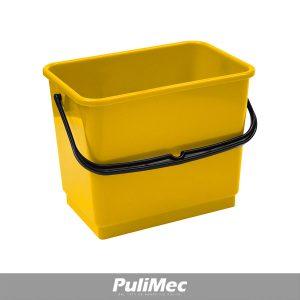 SECCHIO IN PLASTICA GIALLO LT.4 C/MANICO PLASTICA