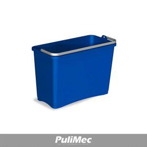 SECCHIO IN PLASTICA BLU LT.8 C/MANICO PLASTICA
