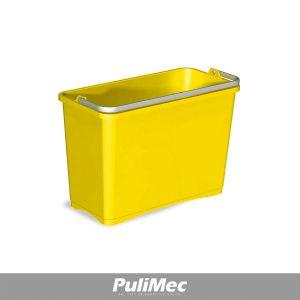 SECCHIO IN PLASTICA GIALLO LT.8 C/MANICO PLASTICA