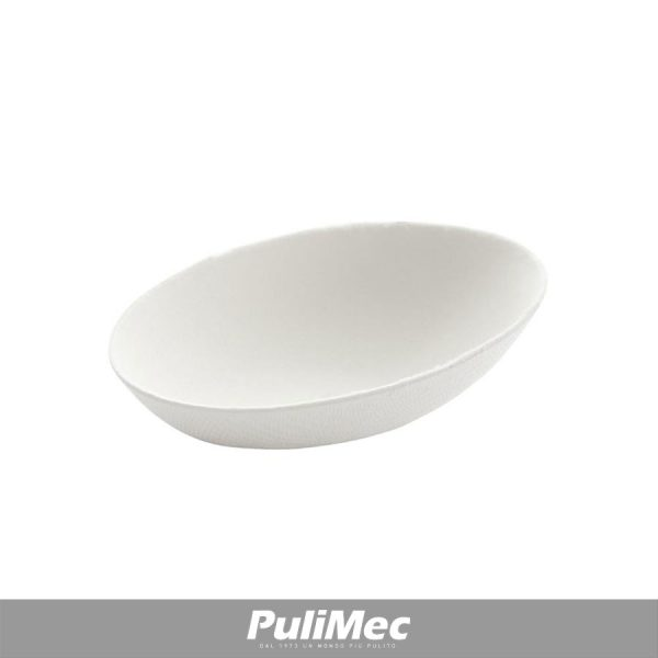 FINGER FOOD OVALE COMPOSTABILE IN POLPA DI CELLULOSA