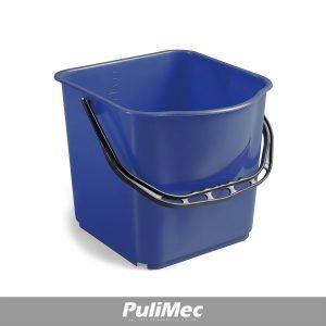 SECCHIO IN PLASTICA BLU LT.15 C/MANICO PLASTICA
