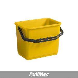 SECCHIO IN PLASTICA GIALLO LT.6 C/MANICO PLASTICA