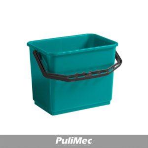 SECCHIO IN PLASTICA VERDE LT.6 C/MANICO PLASTICA