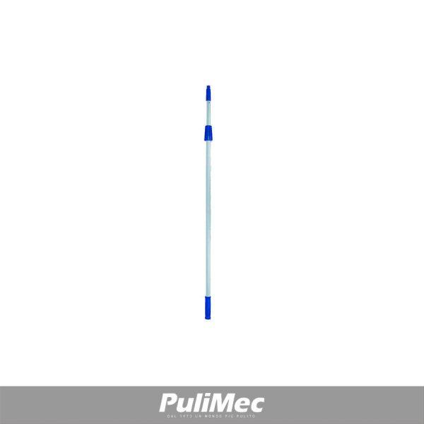 ASTA TELESCOPICA IN ALLUMINIO PZ.2X2,00 MT. C/IMPUGNATURA, GHIERA E CONO BLU