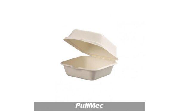 BOX 460 ml 150 mm x 150 mm H 80 mm COMPOSTABILE IN POLPA DI CELLULOSA FIRSTPACK